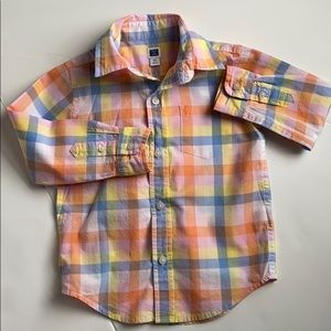 Janie and Jack Pastel Button Down